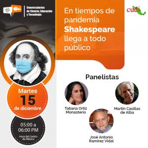 En tiempos de Pandemia, Shakespeare llega a todo público
