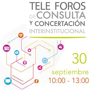 Tele foros  de consulta y concertación interinstitucional