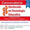 Convocatoria Doctorado en Tecnología Educativa